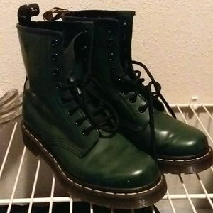 Dark Green Doc Martens Boots